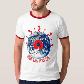 blue globe T-Shirt