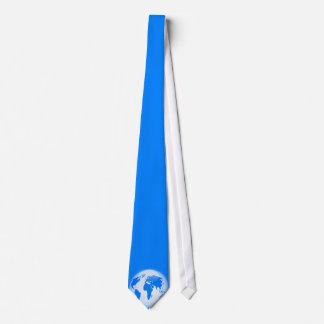 Blue Glossy Globe Neck Tie