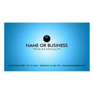blue glow bowling business card