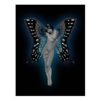 Blue Glow Fairiy Postcard