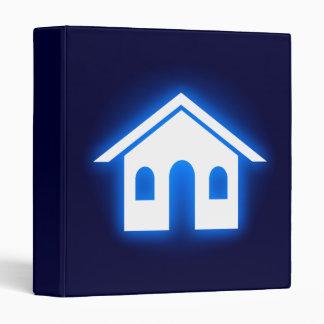 blue glow home 3 ring binder