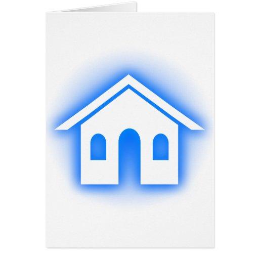 blue glow home card
