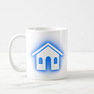 blue glow home coffee mug