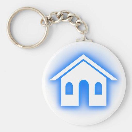 blue glow home keychain