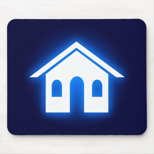 blue glow home mouse pad