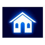 blue glow home postcard