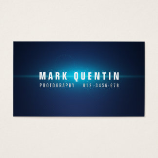 Blue Glow In The Dark Photography Business Card