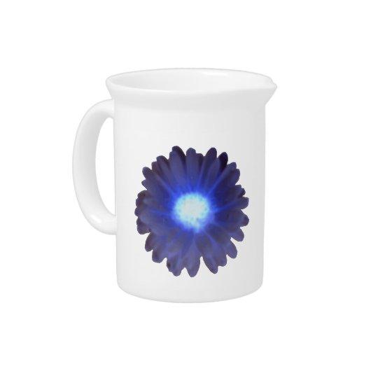 Blue Glow Marigold Pitcher