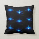 Blue Glowing Dragonflies  Pillow, cushion