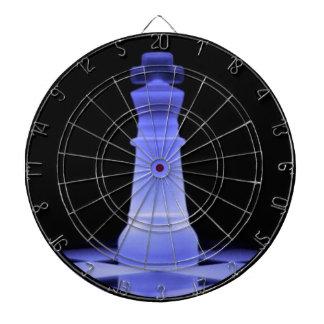 Blue Glowing King Chess Piece Dartboard