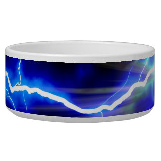 Blue glowing lightning or electricity bowl