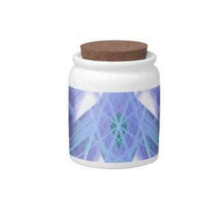 Blue glowing star candy jar