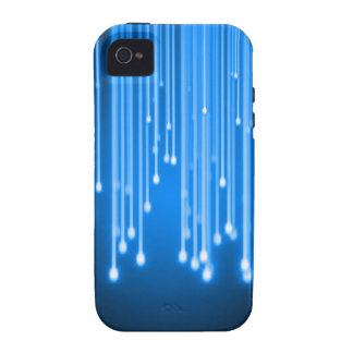 Blue glowing stars falling vibe iPhone 4 case