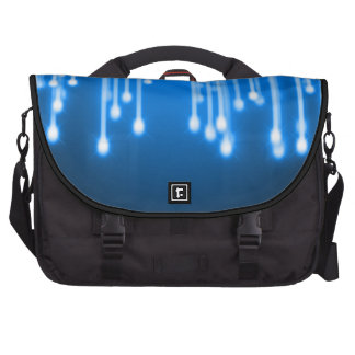 Blue glowing stars falling bags for laptop