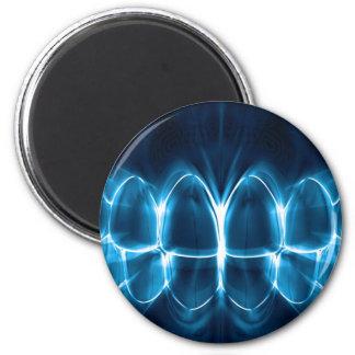 Blue Glowing Teeth Dentist Orthodontist Magnet