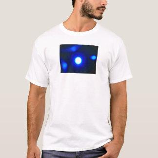 """Blue Glows"" White T-Shirt"