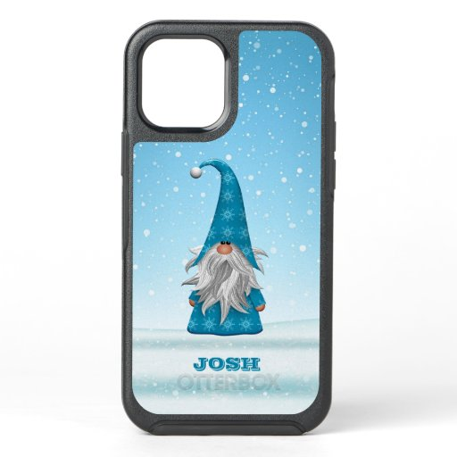 Blue Gnome in the Snow OtterBox Symmetry iPhone 12 Case