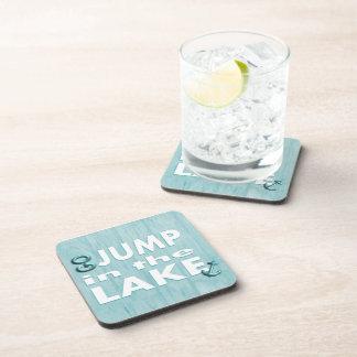 Blue Go Jump in the Lake Cork Coasters - Set of 6