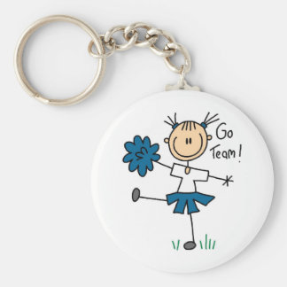 Blue Go Team Cheerleader T-shirts and Gifts Keychain