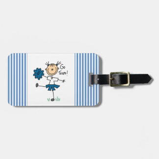 Blue Go Team Cheerleader T-shirts and Gifts Tags For Luggage