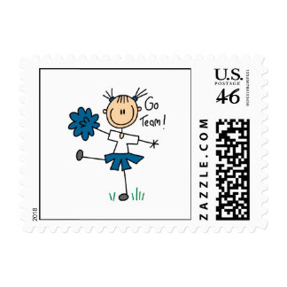 Blue Go Team Cheerleader T-shirts and Gifts Postage