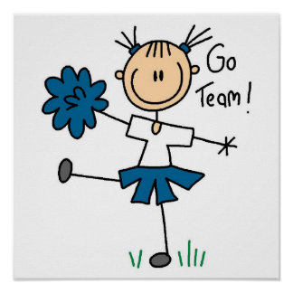 Blue Go Team Cheerleader T-shirts and Gifts Poster