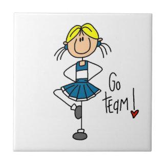 Blue Go Team Cheerleader Tile
