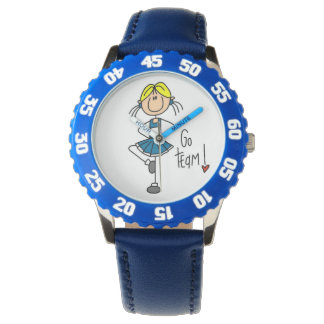 Blue Go Team Cheerleader Wrist Watch