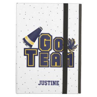 Blue Go Team Cheerleading iPad Case