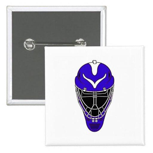 Blue Goalie Mask Button
