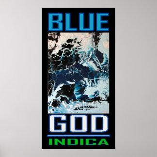 BLUE GOD INDICA POSTER