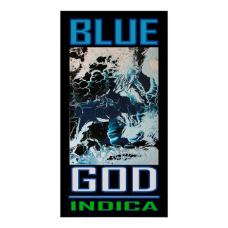 BLUE GOD INDICA PRINT