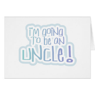 Blue Going to be an Uncle Card