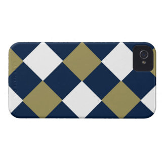 Blue Gold and White BlackBerry Case