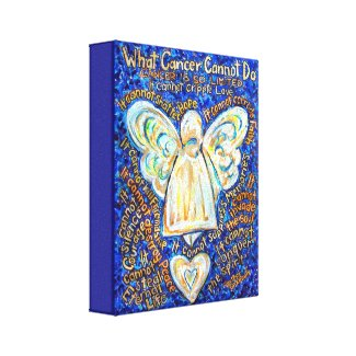 Blue Gold Angel What Cancer Cannot Do Canvas Art