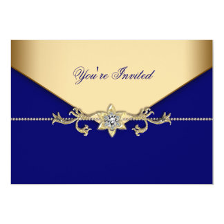 Blue Gold Blue Corporate Party Event Template Card