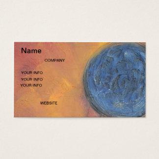 Blue Gold Business Card World