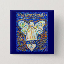 Blue & Gold Cancer Angel Button