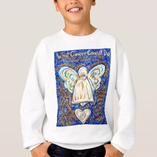 Blue & Gold Cancer Angel T-shirt