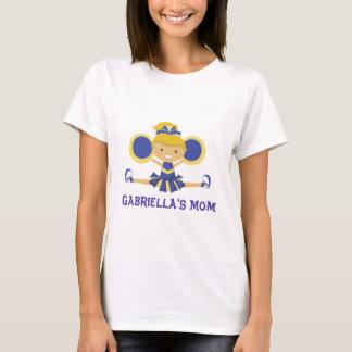 Blue & Gold Cheerleader T-Shirt