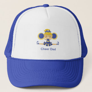 Blue & Gold Cheerleader Trucker Hat