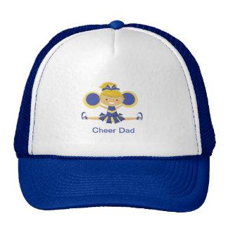 Blue & Gold Cheerleader Trucker Hat