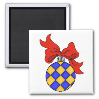 Blue & Gold Christmas Ornament - Magnet