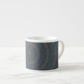 Blue & Gold Circles Espresso Mug 6 Oz Ceramic Espresso Cup