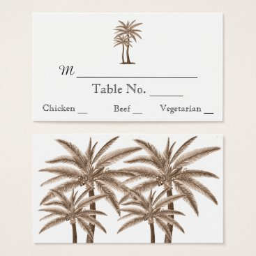 Beach Themed Blue Gold Compass Rose Beach Wedding Place Cards