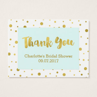 Blue Gold Confetti Bridal Shower Favor Tags