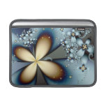 Blue Gold Cute Abstract Floral Sleeve For MacBook Air