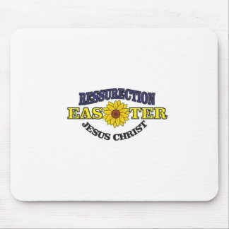 blue gold easter mouse pad