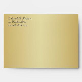 Blue, Gold Floral Envelope for 5x7 Sizes