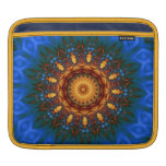 Blue Gold Flower Mandala iPad Sleeves